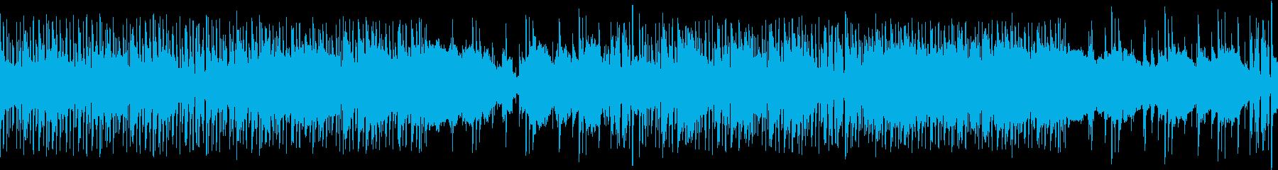 落ち着いた大人のジャズヒップホップループの再生済みの波形