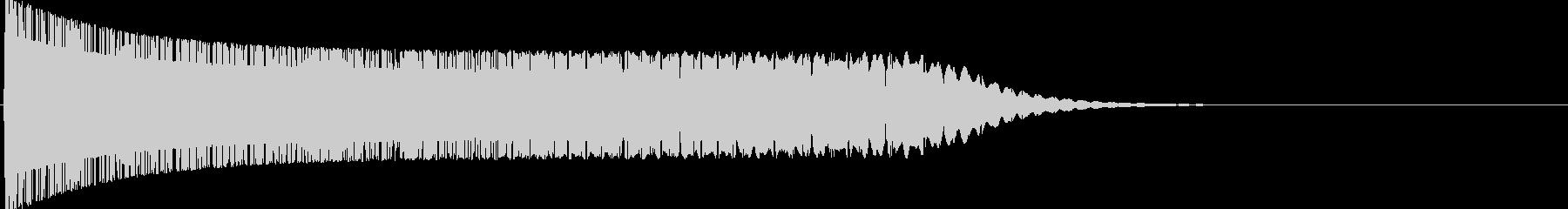 エネルギーが溜まる音の未再生の波形