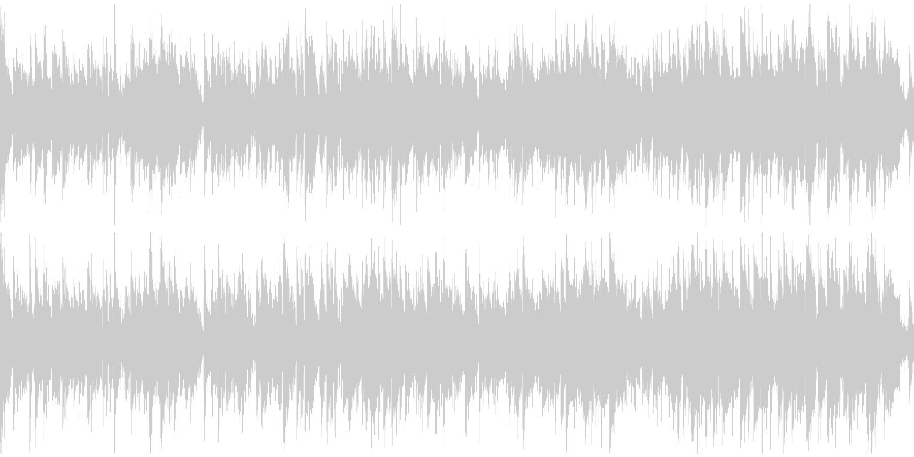 静かなコンテンポラリージャズ ※ループ版の未再生の波形