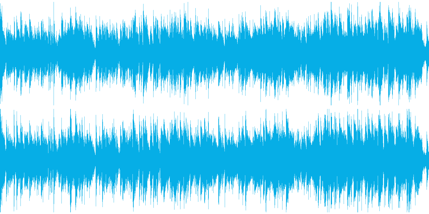 静かなコンテンポラリージャズ ※ループ版の再生済みの波形