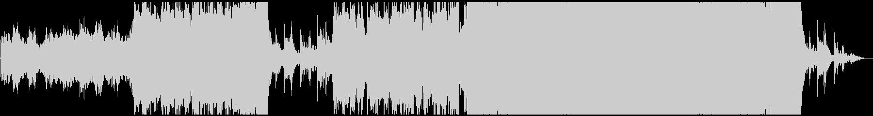 ピアノとエレキのリフが印象的なポップスの未再生の波形