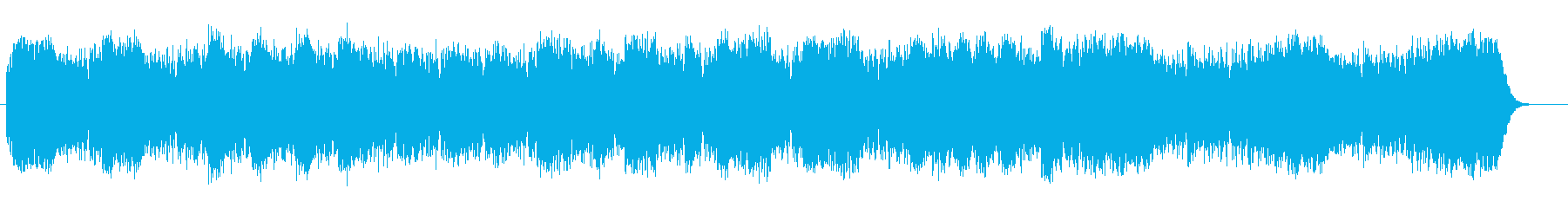 宇宙空間を漂うようなシンセミュージックの再生済みの波形