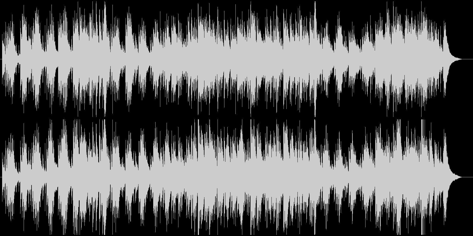 アコースティックギターメインの優しい曲の未再生の波形