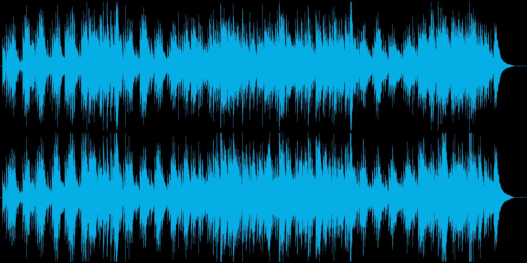 アコースティックギターメインの優しい曲の再生済みの波形