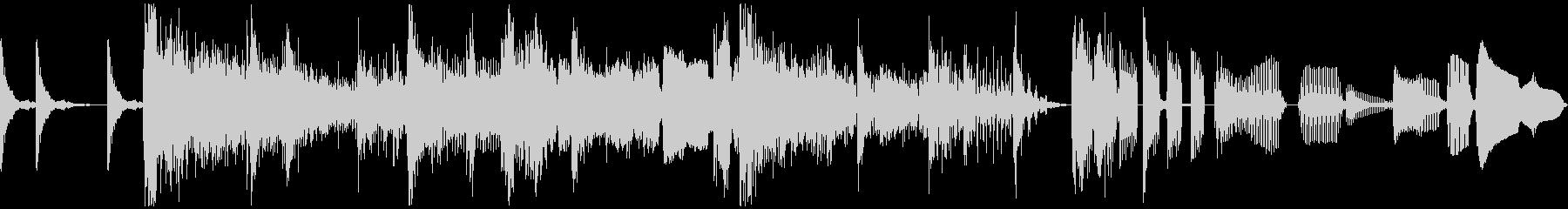 ラジオジングル、サックス、ファンクの未再生の波形