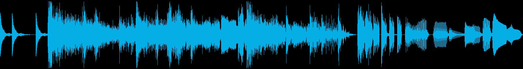 ラジオジングル、サックス、ファンクの再生済みの波形