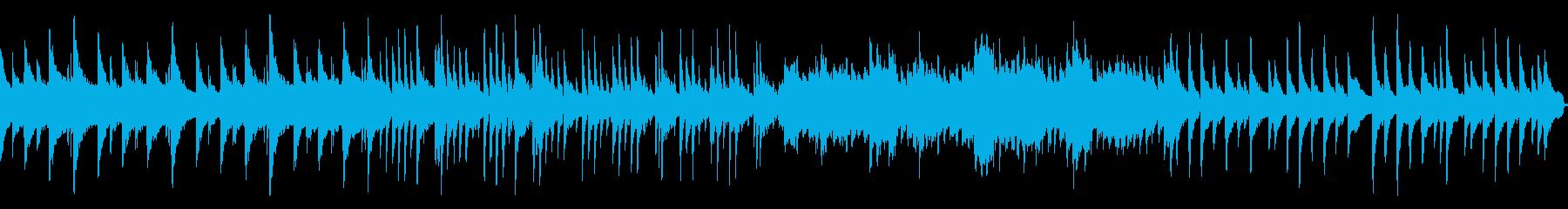 ピアノが印象的な癒しのBGMの再生済みの波形