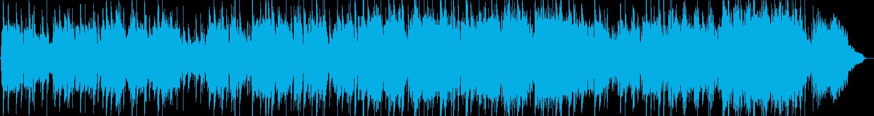 優しいリズムのヒーリング音楽の再生済みの波形