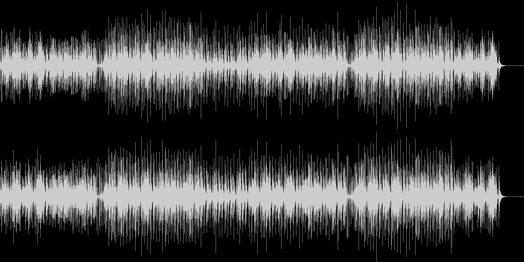 ベルと鉄琴木琴が軽快なアコースティックの未再生の波形