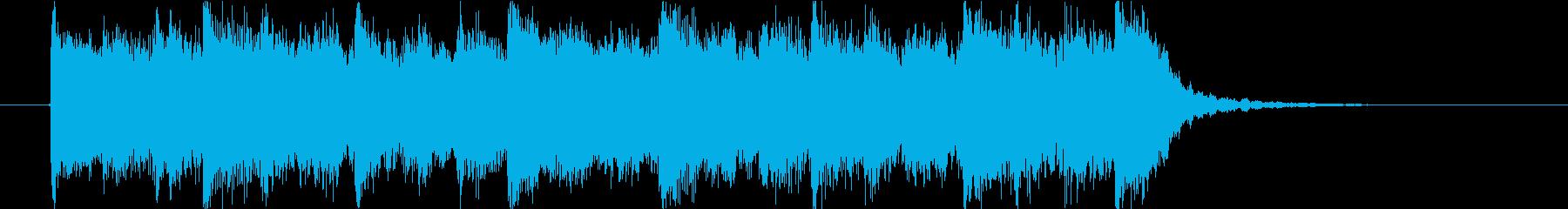 モンスターの唸り声とハロウィンのジングルの再生済みの波形