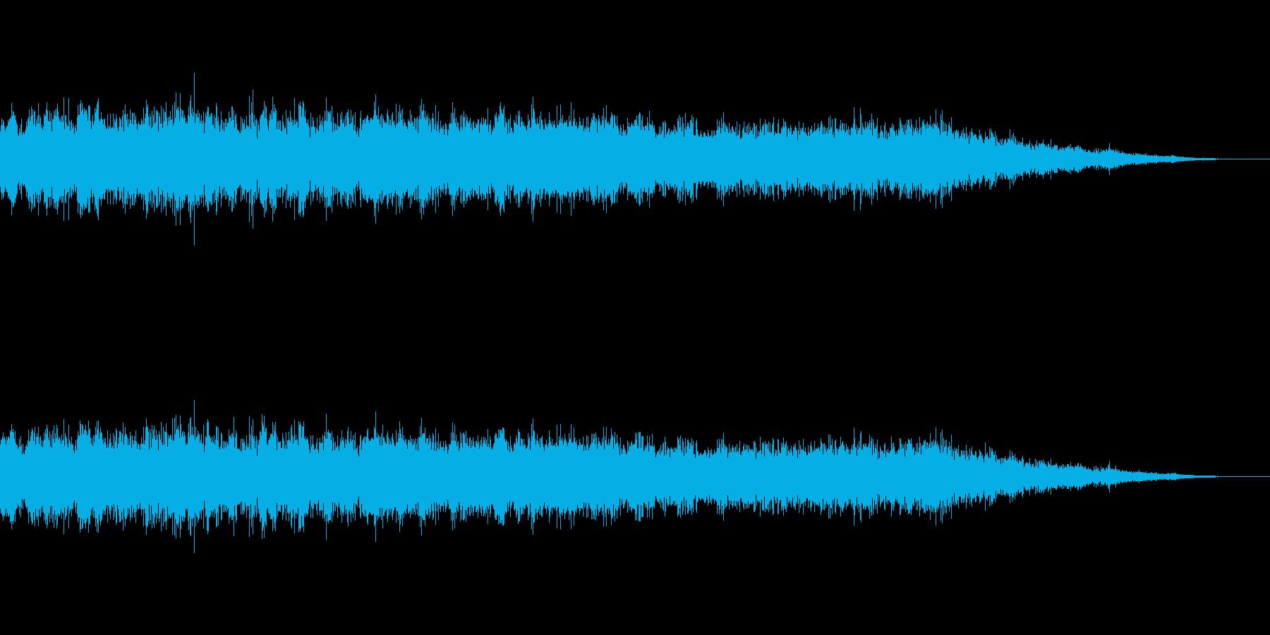 ピピッ鳥のさえずり&キーン飛行機雲の再生済みの波形