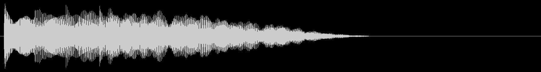 マレット系 決定音13(大)の未再生の波形