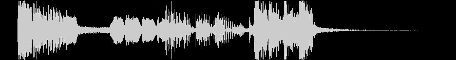 サックスのクールなジングルの未再生の波形