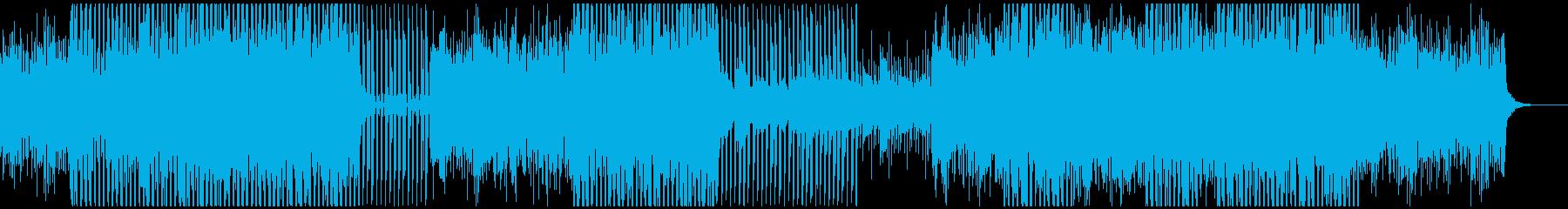 オーケストラ、パーカッション、テクノの再生済みの波形