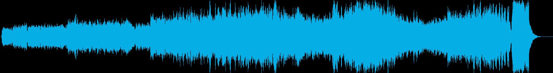 バッハ 小フーガト短調の再生済みの波形