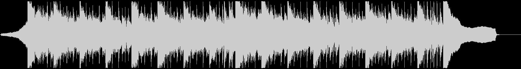 シンセ・リフの短いBGMの未再生の波形