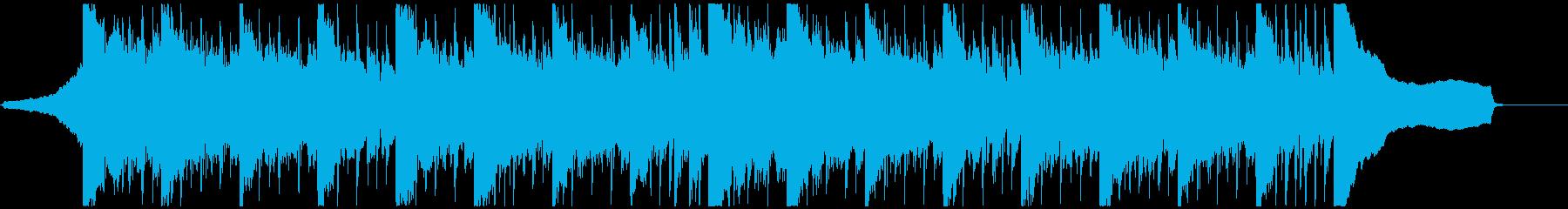 シンセ・リフの短いBGMの再生済みの波形