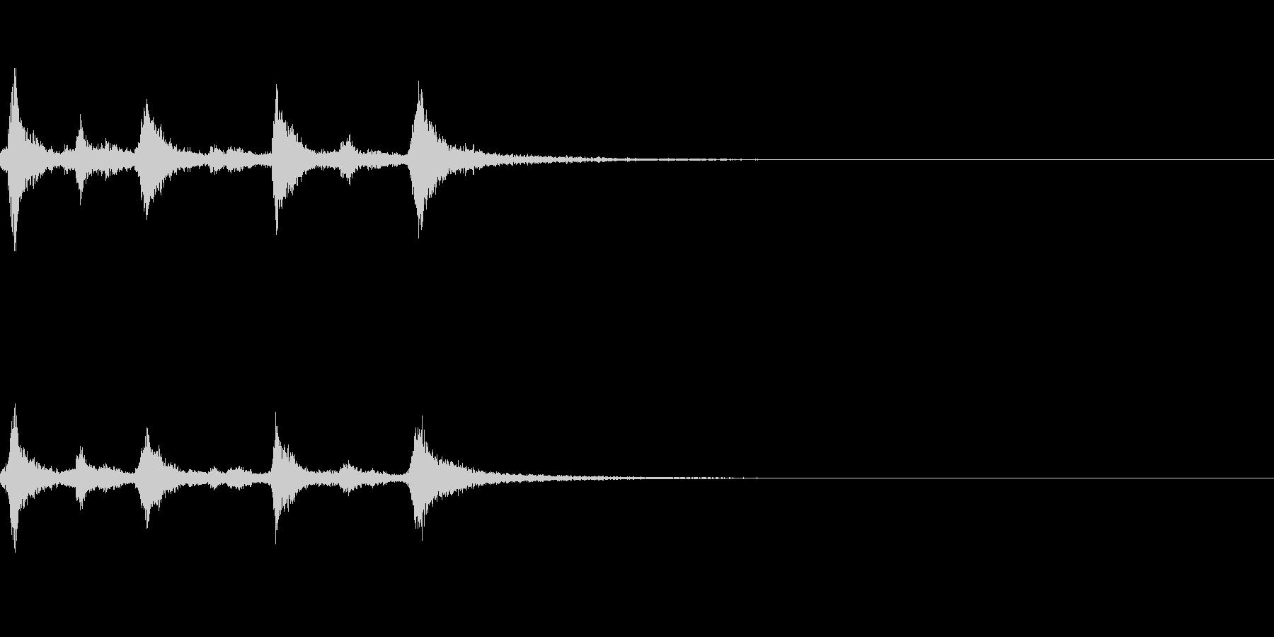 クリスマスのベル、鈴の効果音 ロゴ06の未再生の波形