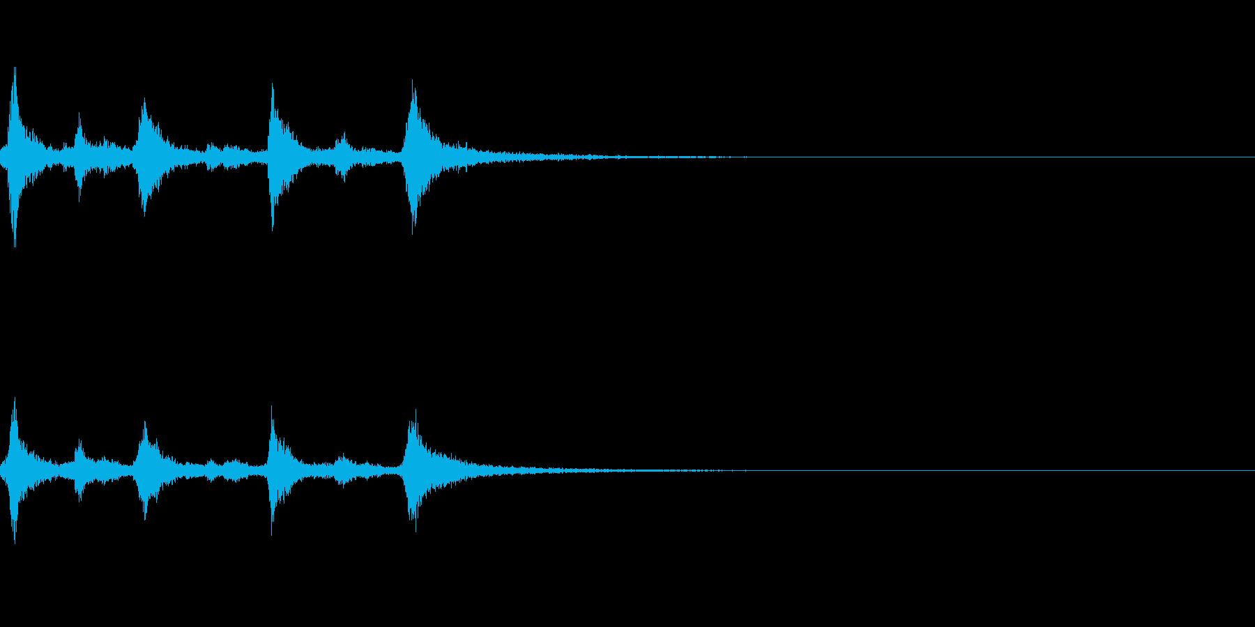 クリスマスのベル、鈴の効果音 ロゴ06の再生済みの波形