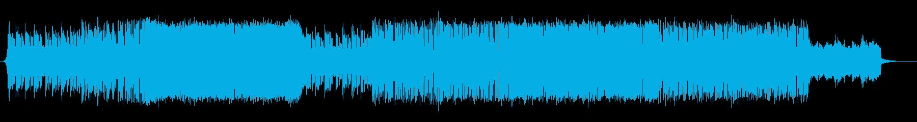 スピード感あるポップなトランスの再生済みの波形