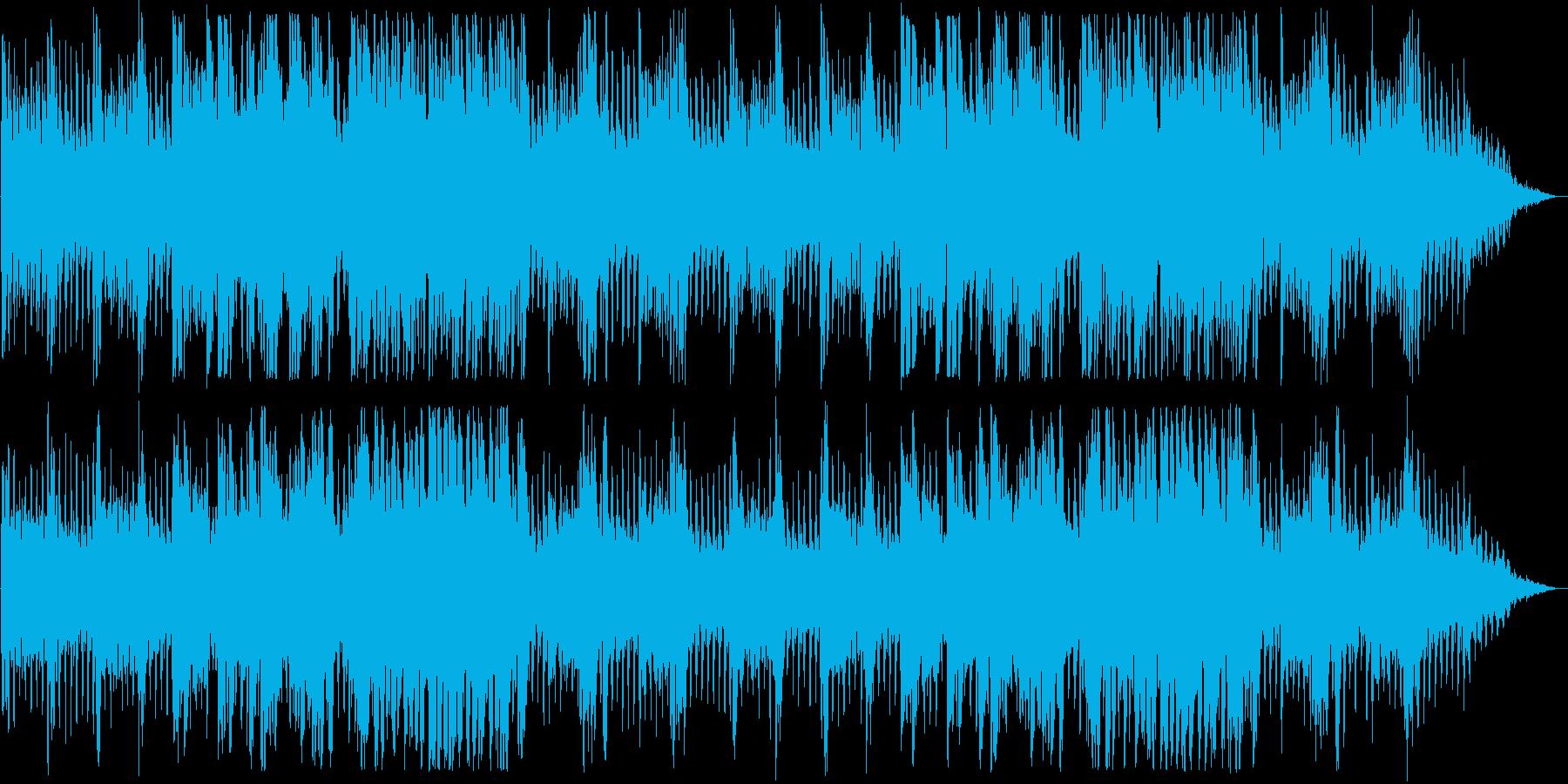 ドキドキ感のあるピアノなどのサウンドの再生済みの波形