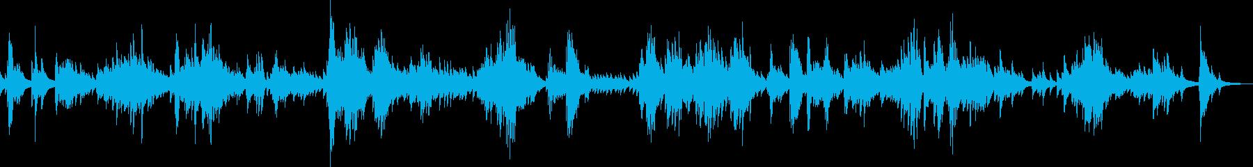 孤独に震えるピアノ曲の再生済みの波形