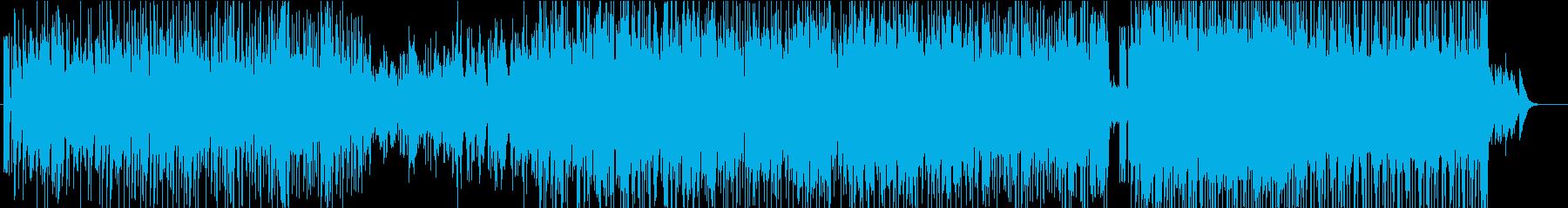 民族楽器を使用したダンスミュージックの再生済みの波形