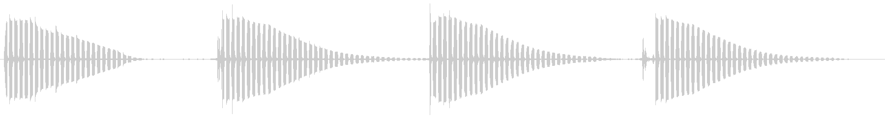 ビョビョ〜ンビチョンと跳ねるカエルの音の未再生の波形
