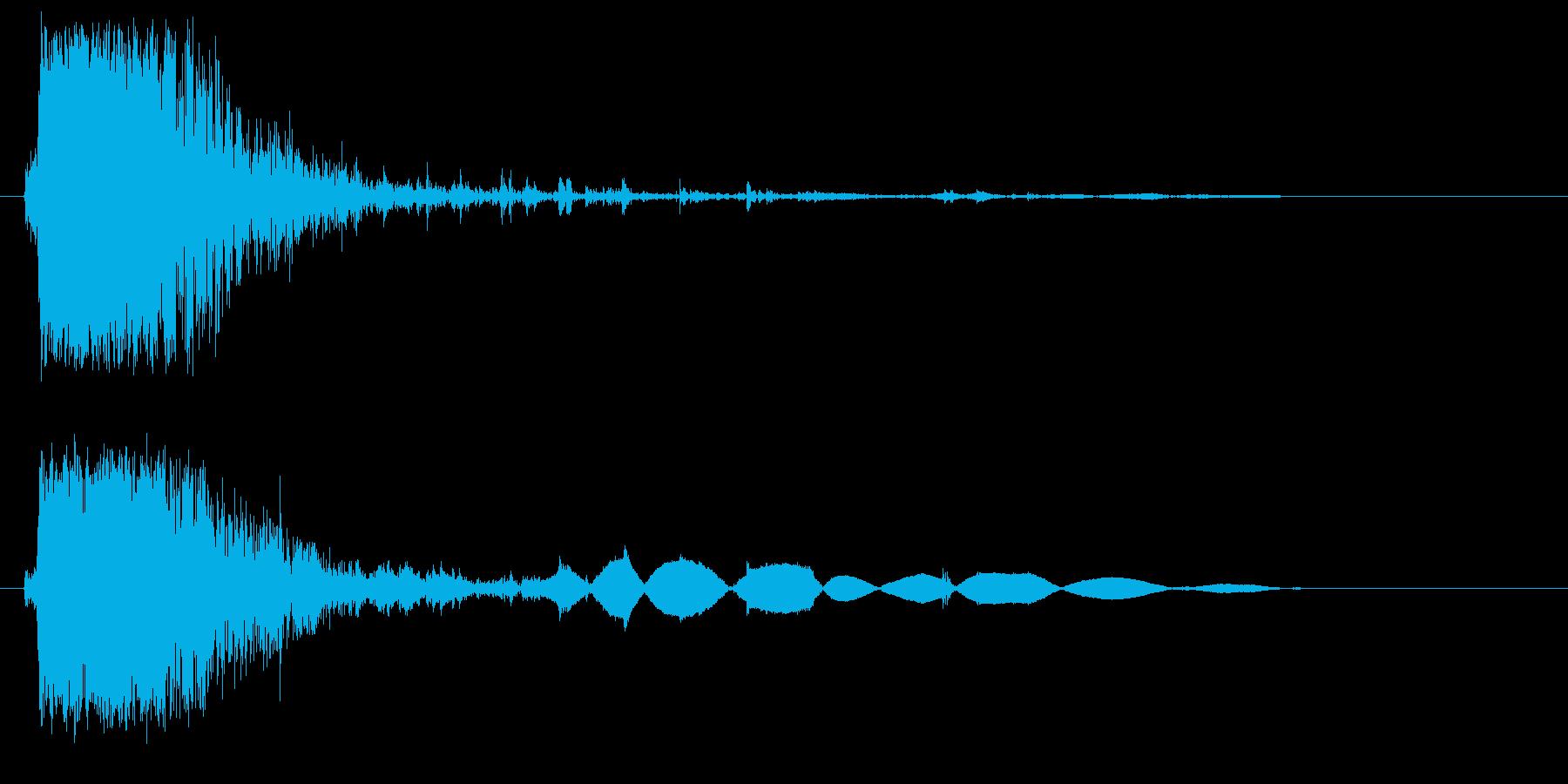 ガシャッ(物音)強めの再生済みの波形