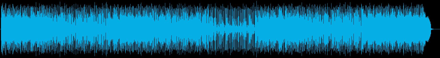 軽快なピアノポップスの再生済みの波形