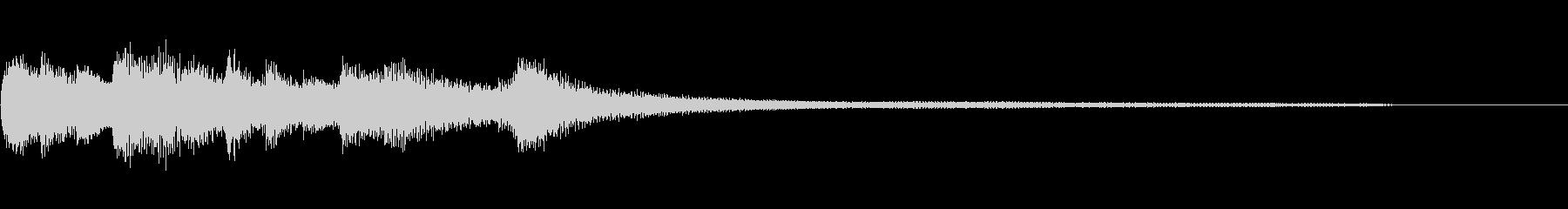 和風のジングル3a-ピアノソロの未再生の波形