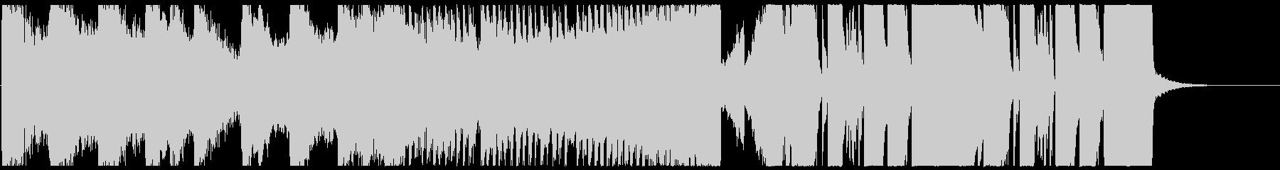 瞬発的な変則ビートの未再生の波形