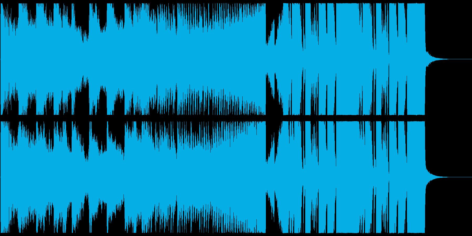 瞬発的な変則ビートの再生済みの波形