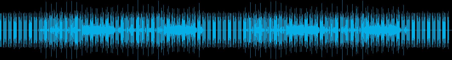 どうぶつのゲーム風な曲(ベースなし)の再生済みの波形
