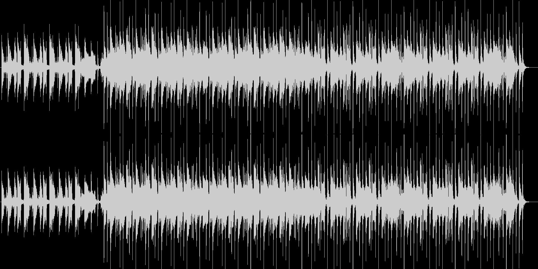 軽快なロックの未再生の波形