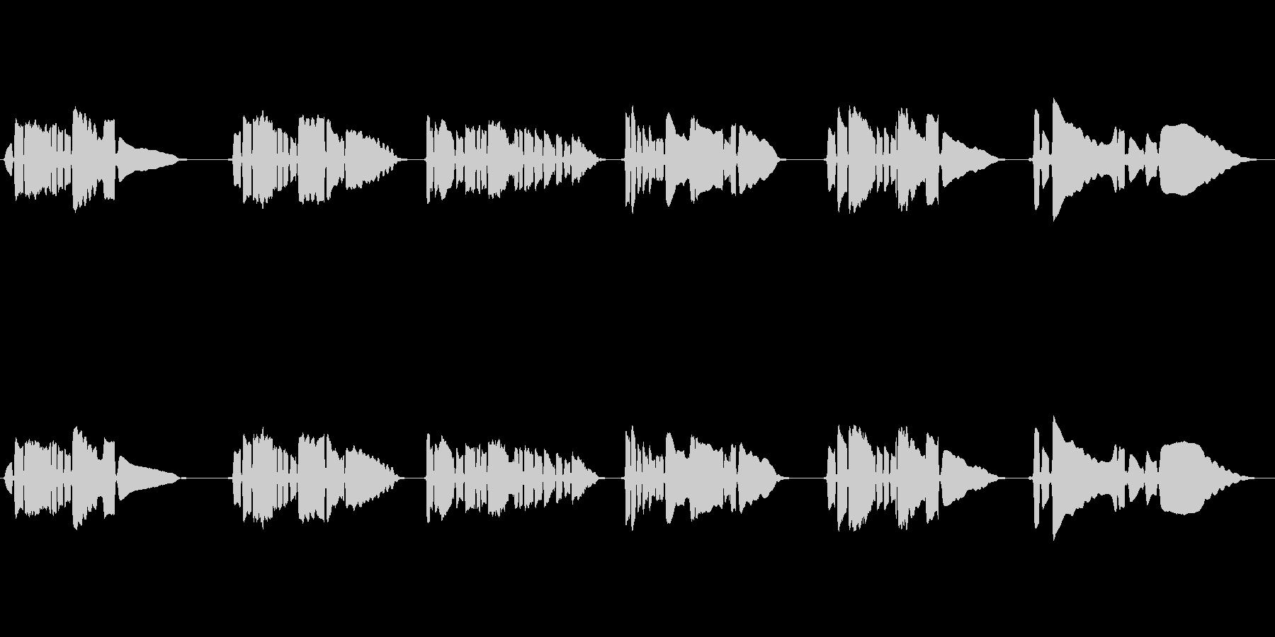 サックス一本の曲です。の未再生の波形