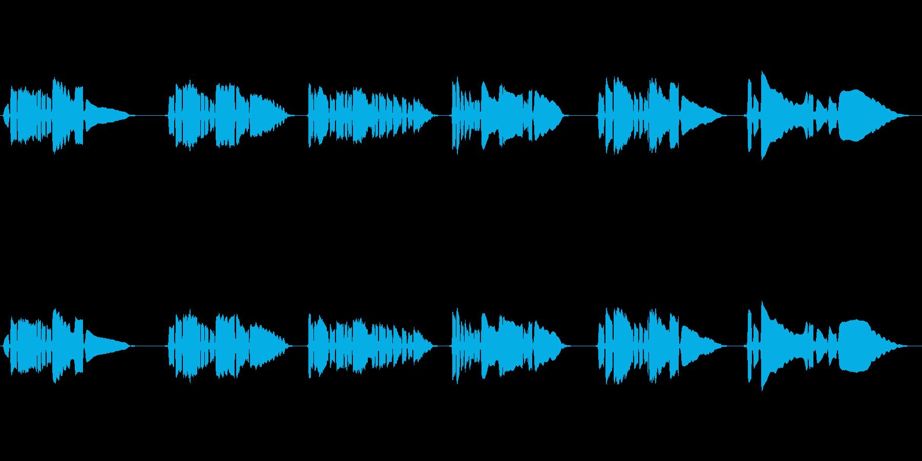 サックス一本の曲です。の再生済みの波形