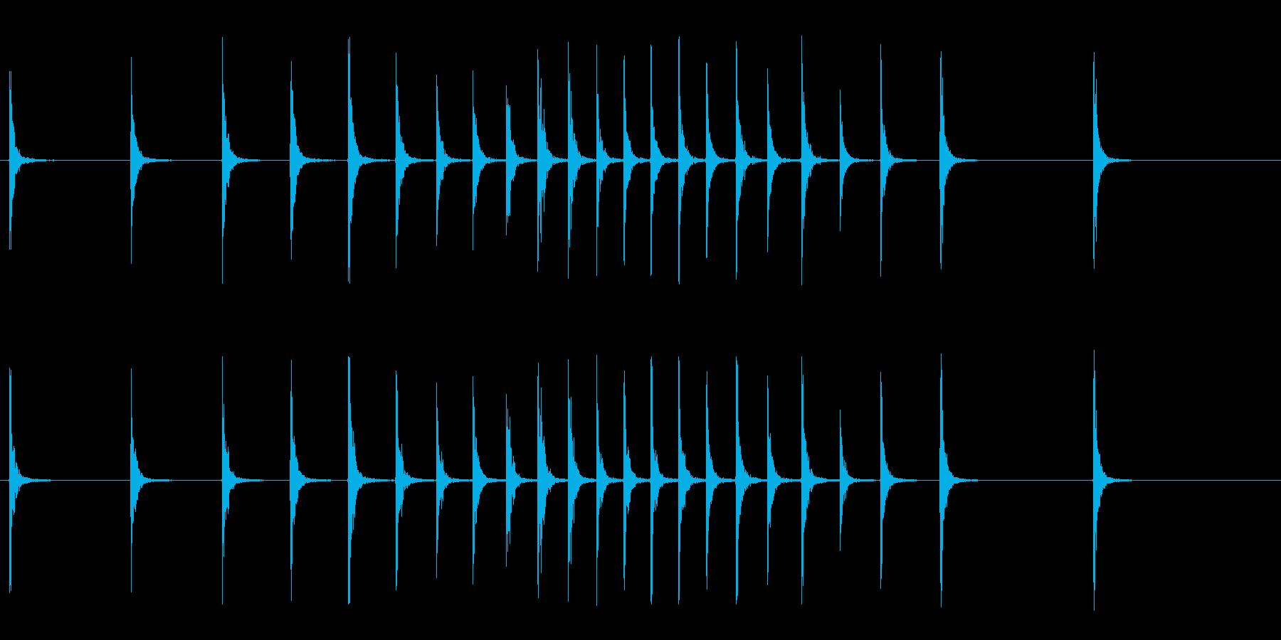 カンカンカン…カン!(拍子木、歌舞伎)の再生済みの波形