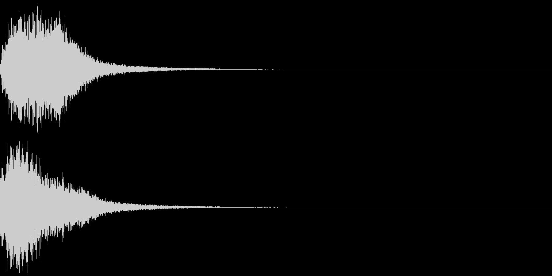 シャキーン(魔法、星、光の輝きに)6BVの未再生の波形