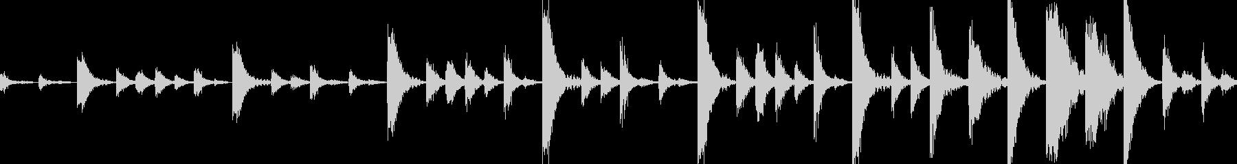 ドラムンベースのリズムループパターン#4の未再生の波形