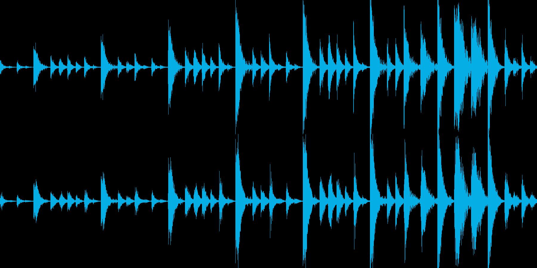 ドラムンベースのリズムループパターン#4の再生済みの波形