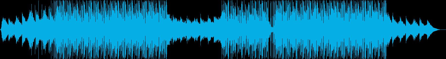 ダンストロピカルハウスミュージックの再生済みの波形