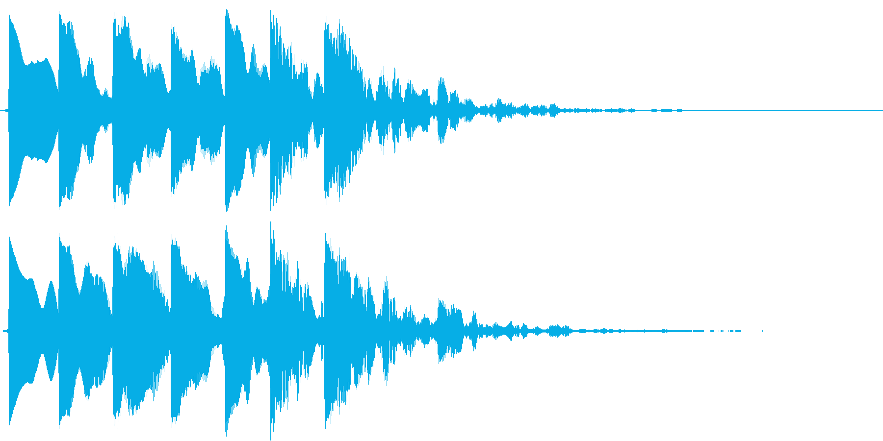 レペルアップの再生済みの波形