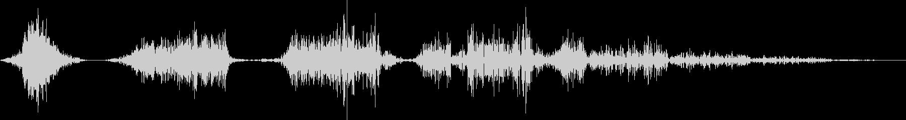 高速マルチウーシャノイズフィルターの未再生の波形