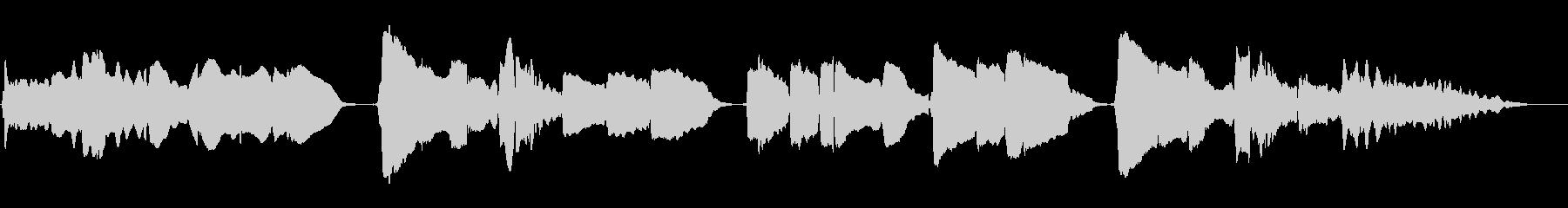 サックスの重奏です。美しくも儚い曲の未再生の波形