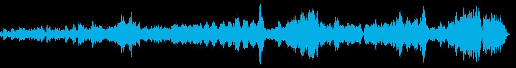 静かなで穏やかな曲ですの再生済みの波形