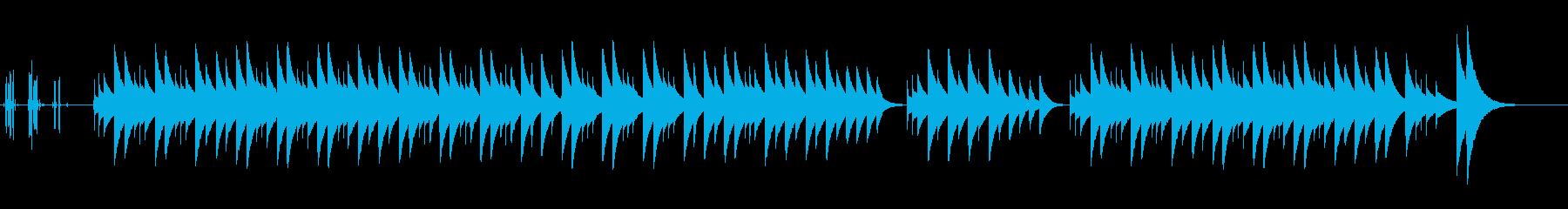 ネコふんじゃったのオルゴールバージョンの再生済みの波形