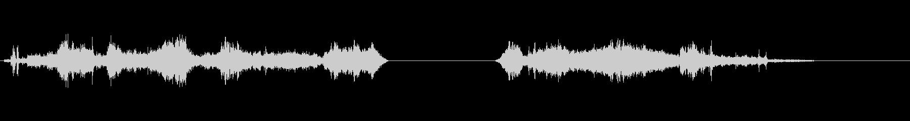 蓄音機ブロークンプレイロングx2の未再生の波形