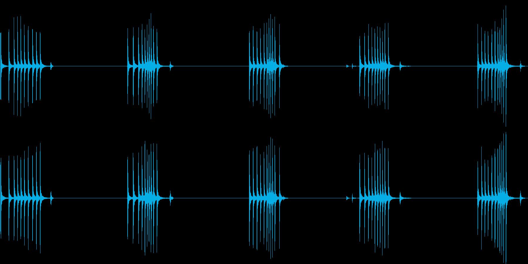 アンティークの携帯電話レコーダー:...の再生済みの波形