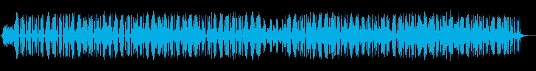 疾走感のあるヒップホップの再生済みの波形